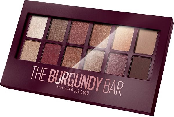MAYBELLINE NEW YORK The Burgundy Bar Palette 9,6 g - Paletka očních stínů