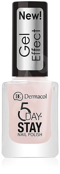 DERMACOL 5 Days Stay Gel Effect Nail Polish No.26 Satiné 12 ml - Lak na nehty