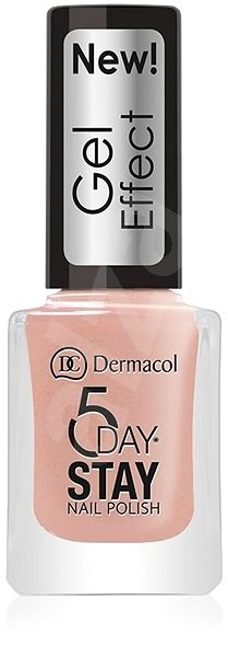 DERMACOL 5 Days Stay Gel Effect Nail Polish No.27 Parisien Chic 12 ml - Lak na nehty