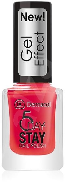 DERMACOL 5 Days Stay Gel Effect Nail Polish No.28 Moulin Rouge 12 ml - Lak na nehty