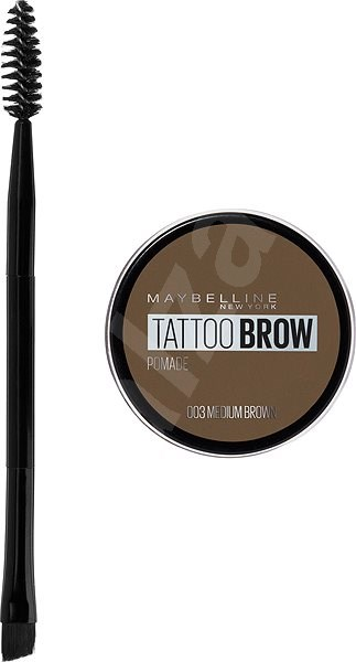 MAYBELLINE NEW YORK Tattoo Brow gelová pomáda na obočí 03 Medium Brown 4 g - Gel na obočí