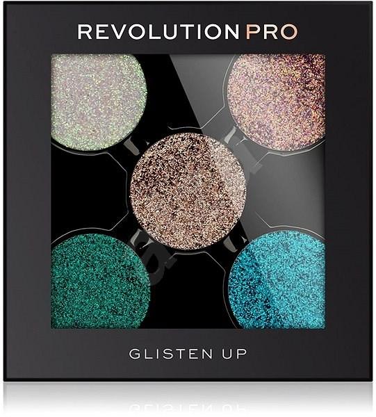 REVOLUTION PRO Glitter Eyeshadow Pack Glisten UP 6 g - Paletka očních stínů
