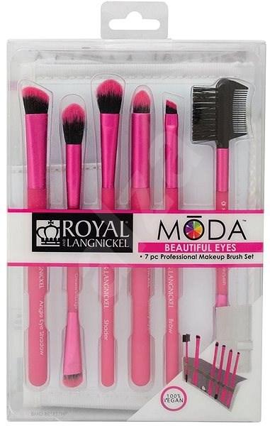 Moda Beautiful Eyes Pink Brush Kit - Sada kosmetických štětců