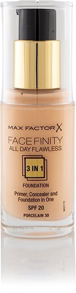 MAX FACTOR Facefinity All Day Flawless 3in1 Foundation SPF20 30 Porcelain 30 ml - Make-up
