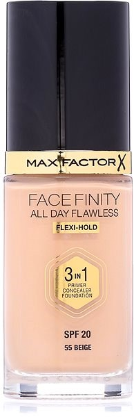 MAX FACTOR Facefinity All Day Flawless 3in1 Foundation SPF20 55 Beige 30 ml - Make-up