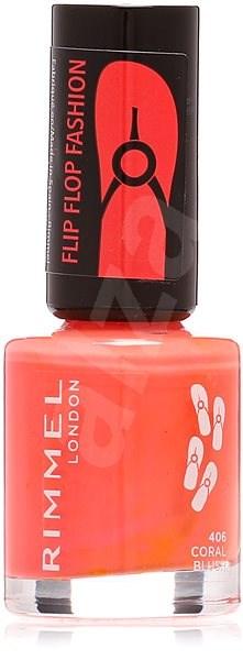RIMMEL LONDON 60 Seconds Flip Flop Fashion 406 Coral Blush 8 ml - Lak na nehty