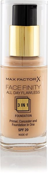 MAX FACTOR Facefinity All Day Flawless 3in1 Foundation SPF20 47 Nude 30 ml - Make-up