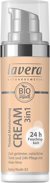 LAVERA Tinted Moisturising Cream 3in1 Ivory Nude 30 ml - Make-up
