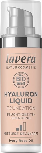 LAVERA Hyaluron Liquid Foundation Ivory Rose 00 30 ml - Make-up