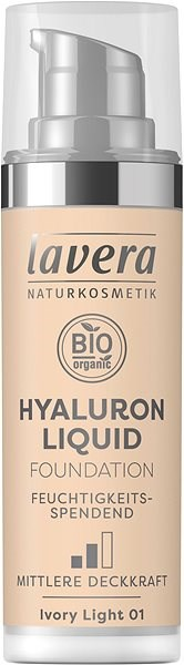 LAVERA Hyaluron Liquid Foundation Ivory Light 01 30 ml - Make-up