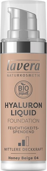 LAVERA Hyaluron Liquid Foundation Honey Beige 04 30 ml - Make-up
