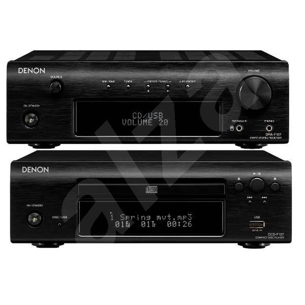 DENON D-F107 black set Receiveru DRA-F107 a CD přehrávače DCD-F107 - Minisystém