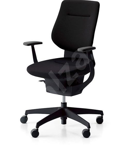3DE ING Glider 360° černá - čalouněná - Kancelářská židle