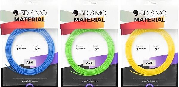 3DSimo Filament ABS modrá, zelená, žlutá - Filament pro 3D pera