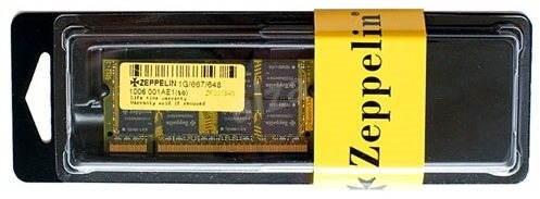 ZEPPELIN SO-DIMM 1GB DDR2 667MHz CL5 - Operační paměť