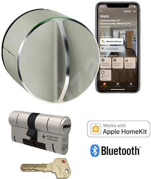 Danalock V3 set chytrý zámek včetně cylindrické vložky M&C - Bluetooth & Homekit - Chytrý zámek