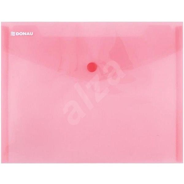 DONAU A5 s drukem, transparentní červené - Spisové desky