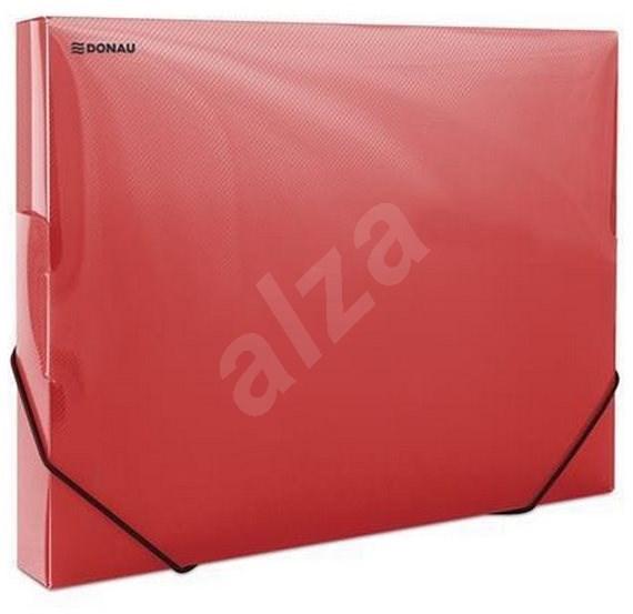 DONAU Propyglass A4 - transparentní, červené - Desky na dokumenty