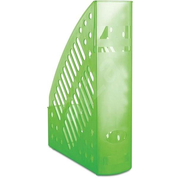 DONAU 70mm transparentní/zelený - Stojan na časopisy
