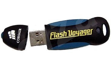 Corsair FlashDrive Voyager 128MB USB2.0 - ultrarychlý, gumový, voděodolný kryt, možnost šifrování! - Flash disk
