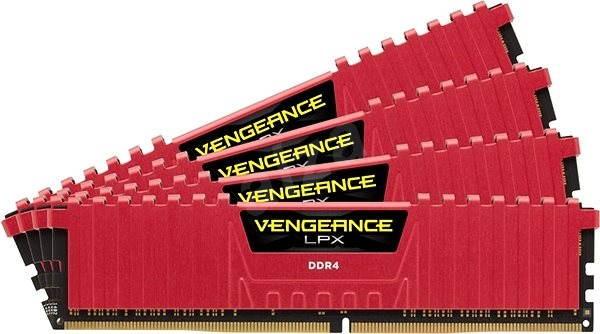 Corsair 16GB KIT DDR4 2666MHz CL16 Vengeance LPX červená - Operační paměť