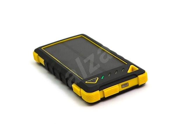 DOCA Powerbank Solar 8000mAh černá/žlutá - Powerbanka