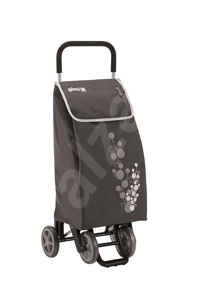 GIMI Twin šedý nákupní vozík 56 l - Taška na kolečkách