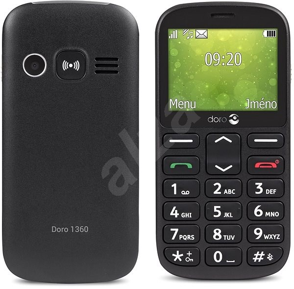 Doro 1360 Dual SIM Black - Mobilní telefon