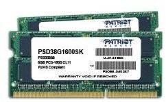 Patriot SO-DIMM 8GB KIT DDR3 1600MHz CL11 Signature Line - Operační paměť
