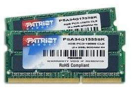 Patriot SO-DIMM 4GB KIT DDR3 1333MHz CL9 Signature Line pro Apple - Operační paměť