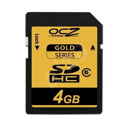 OCZ Secure Digital 4GB Gold Series SDHC Class 6 - Paměťová karta