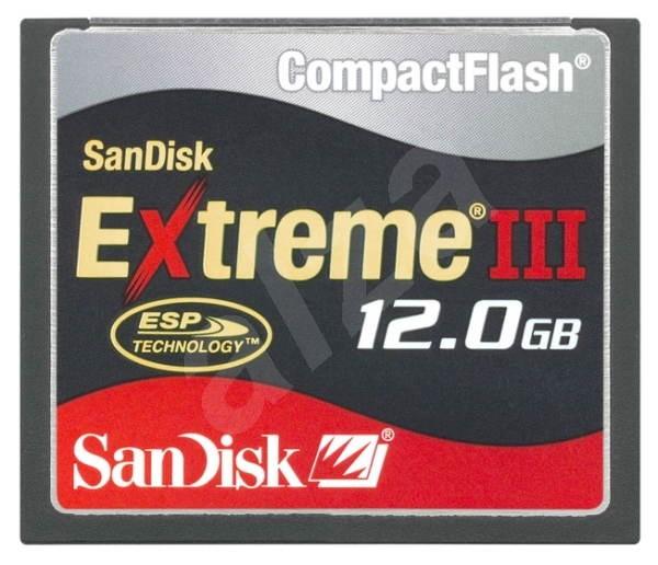 SanDisk Compact Flash 12GB Extreme III 133x - Paměťová karta
