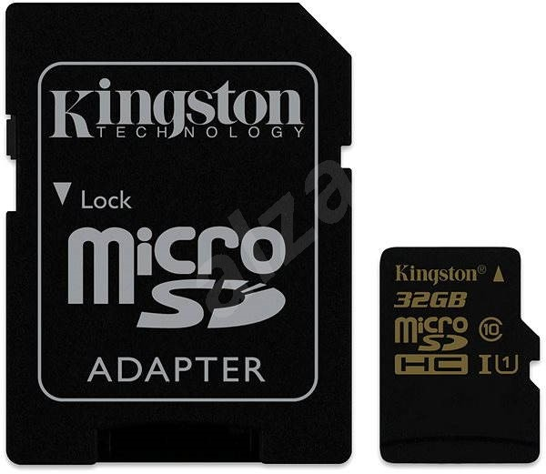 Kingston MicroSDHC 32GB Class 10 UHS-I + SD adaptér - Paměťová karta