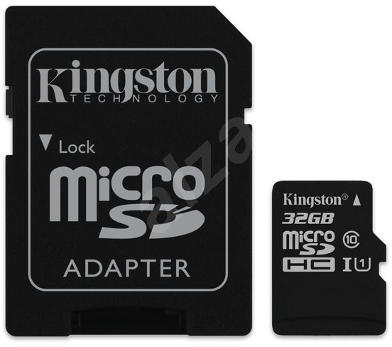 Kingston Canvas Select MicroSDHC 32GB UHS-I U1 + SD adaptér - Paměťová karta