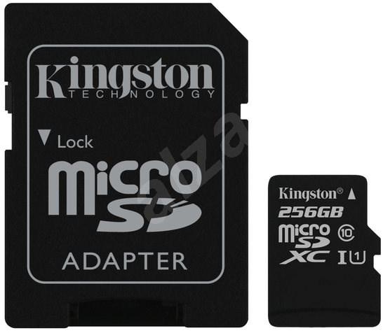Kingston Canvas Select MicroSDXC 256GB UHS-I U1 + SD adaptér - Paměťová karta