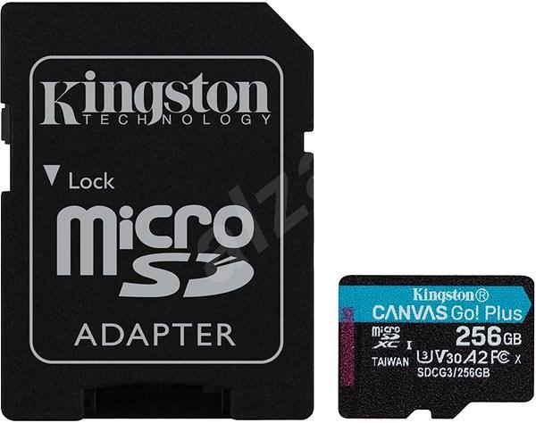 Kingston Canvas Go! Plus microSDXC 256GB + SD adaptér - Paměťová karta