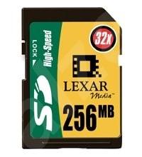 LEXAR Secure Digital 256MB HiSpeed 32x - Paměťová karta