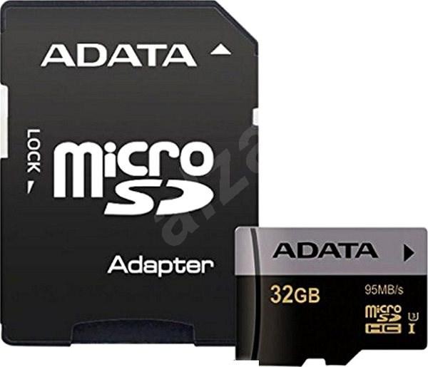 ADATA Premier Pro V30S micro SDHC 32GB UHS-I U3 + SD adaptér - Paměťová karta