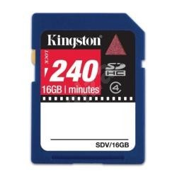 Kingston SDHC 16GB Class 4 Video card 240min - Paměťová karta