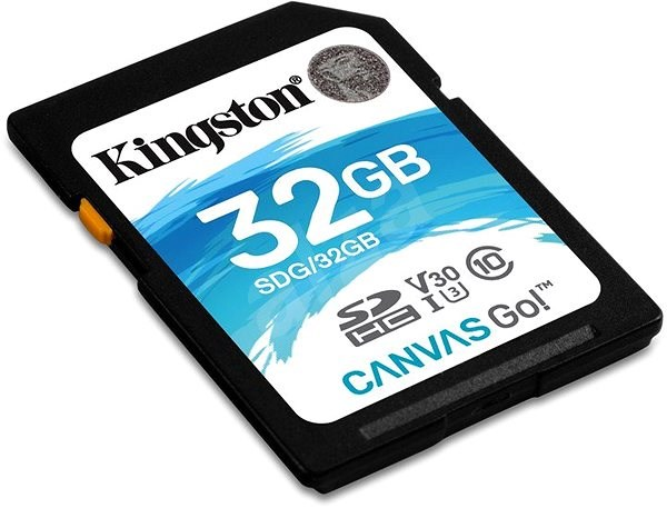 Kingston Canvas Go! SDHC 32GB UHS-I U3 - Paměťová karta