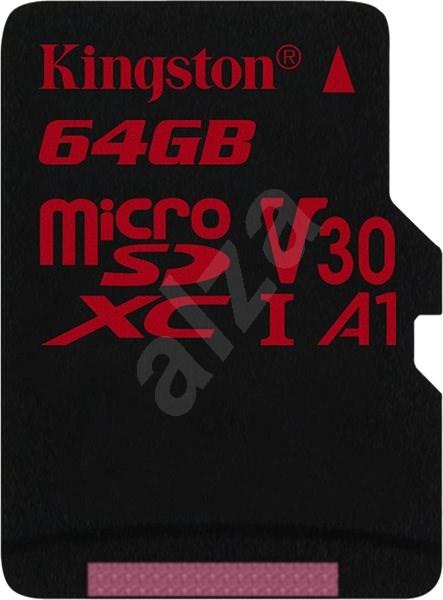 Kingston Canvas React MicroSDXC 64GB A1 UHS-I V30 U3 - Paměťová karta
