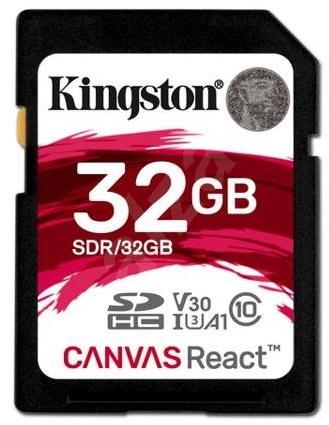Kingston Canvas React SDHC 32GB A1 UHS-I V30 U3 - Paměťová karta
