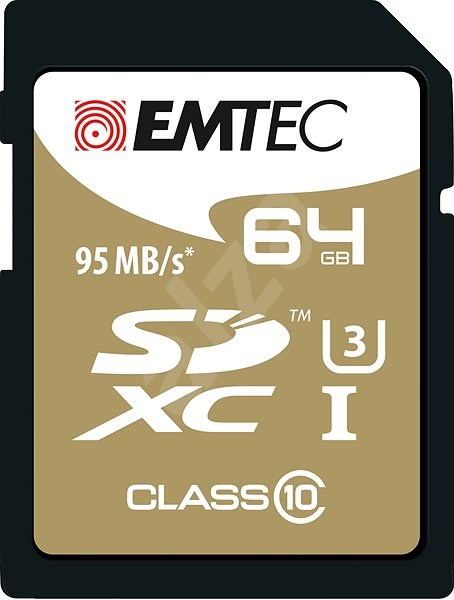 EMTEC SDXC 64GB Speed`In Class 10 UHS-I U3 - Paměťová karta
