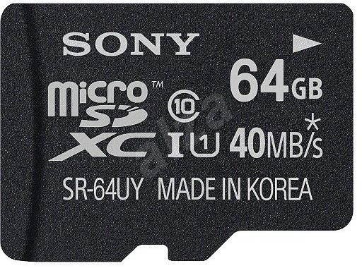 Sony MicroSDXC 64GB Class 10 UHS-I + SD adaptér - Paměťová karta