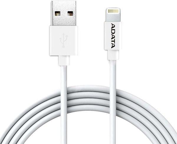 ADATA Lightning MFI pro Apple 2m, bílý - Datový kabel