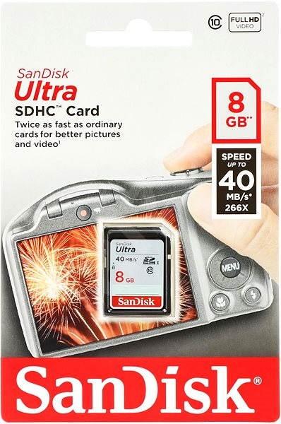 SanDisk SDHC 8GB Ultra Class 10 UHS-I - Paměťová karta
