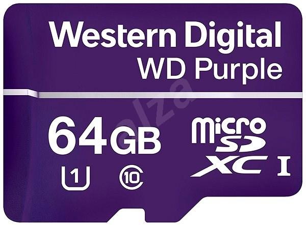 WD Purple MicroSDXC 64GB UHS-I U1 - Paměťová karta