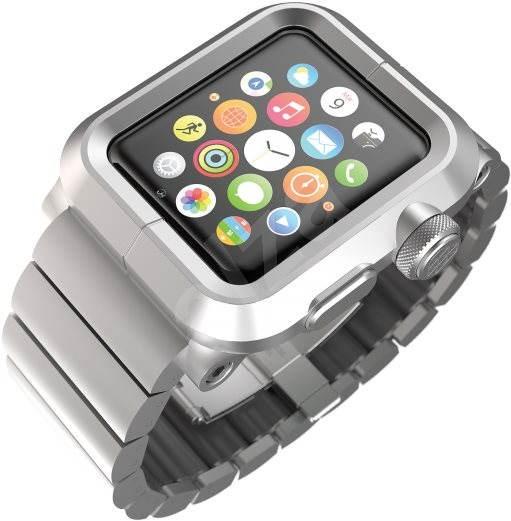 Lunatik EPIK Metal Link pro Apple Watch 1 Series 42mm (stříbrné aluminium / stříbrný kov) - Pouzdro