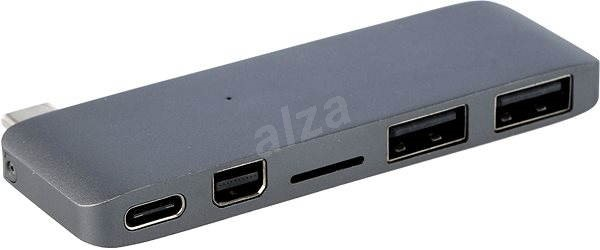 Hyper USB-C 5v1 šedý - USB Hub