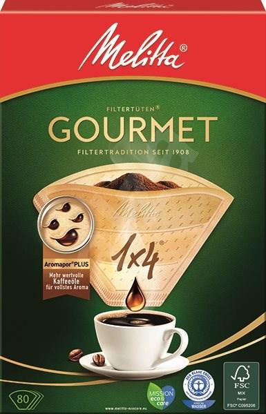 Melitta Filtry 1x4/80 GOURMET hnědé - Filtr na kávu